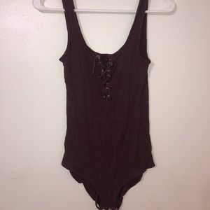 American Eagle Lace-up Bodysuit